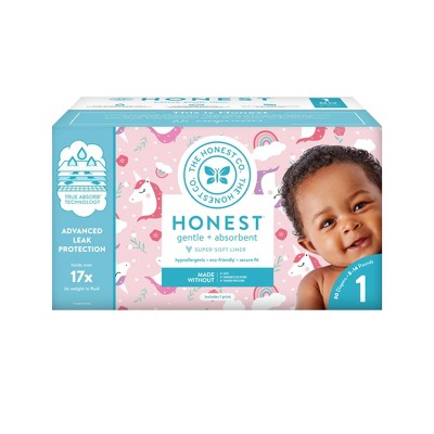 Honest Company Chasing Unicorns Club Pack Diapers - Size 1 (80ct)