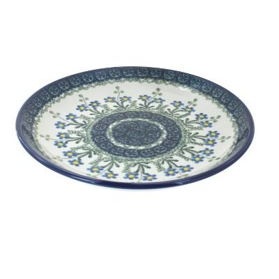 Blue Rose Polish Pottery Blue Posy Dessert Plate