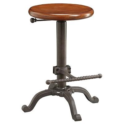 "24"" Ryder Swivel Adjustable Barstool Industrial Chestnut - Carolina Chair & Table"