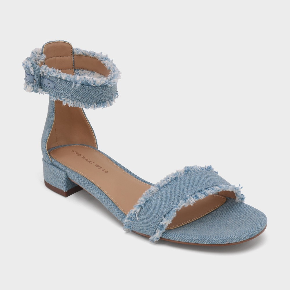 Women's Cameron Ankle Slide Sandal - Who What Wear Light Blue 8