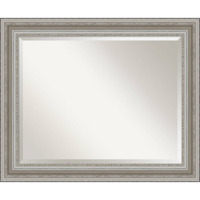 34 X 28 Parlor Framed Bathroom Vanity Wall Mirror Silver Amanti Art Target