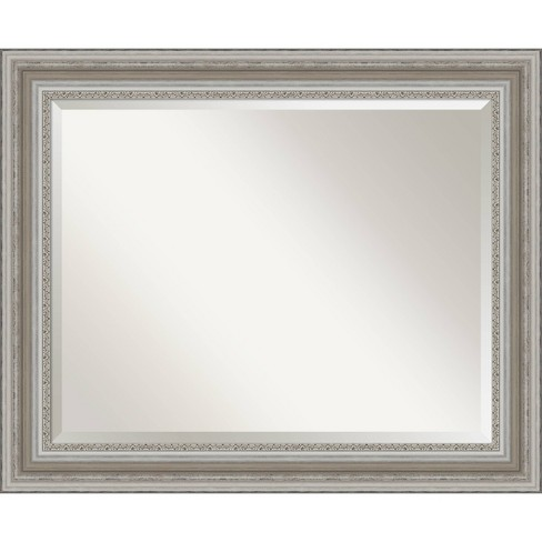 34 X 28 Parlor Framed Bathroom Vanity Wall Mirror Silver Amanti Art Target