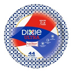 "Dixie Ultra 10 1/16"" Paper Plates"