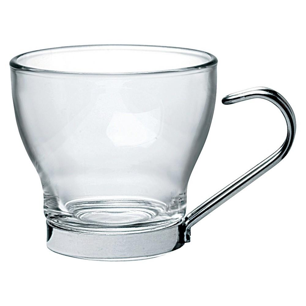 Bormioli Rocco Oslo Espresso Cup 3.5oz Set of 4, Clear