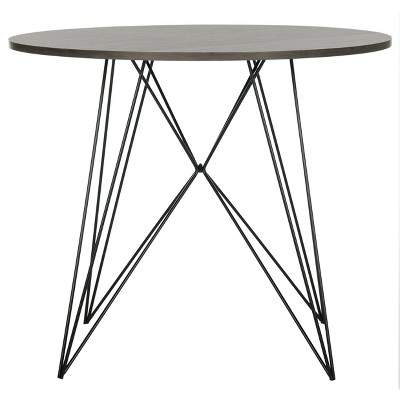 Marino Round End Table - Dark Gray & Black - Safavieh