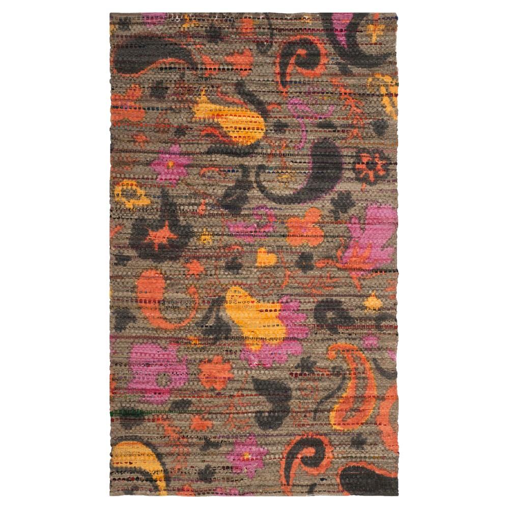 Cedar Brook Rug - Brown- (5'x8') - Safavieh, Brown/Multi