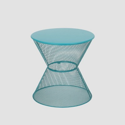 Nevada Iron Modern Side Table - Matte Teal - Christopher Knight Home