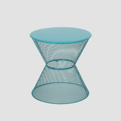 Nevada Iron Modern Side Table - Matte Teal - Christopher Knight Home - image 1 of 4