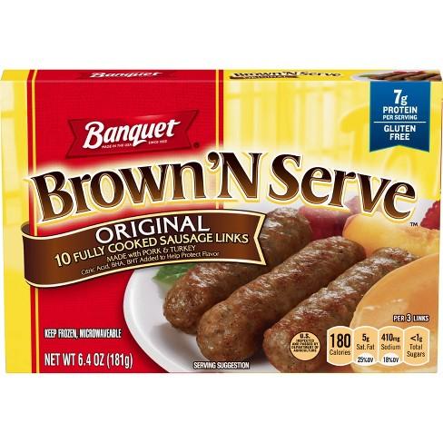 Banquet Frozen Brown'N Serve Frozen Original Links - 6.4oz - image 1 of 3