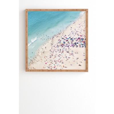 "12"" x 12"" Ingrid Beddoes Beach Summer Landscape Framed Wall Art Blue - Deny Designs"