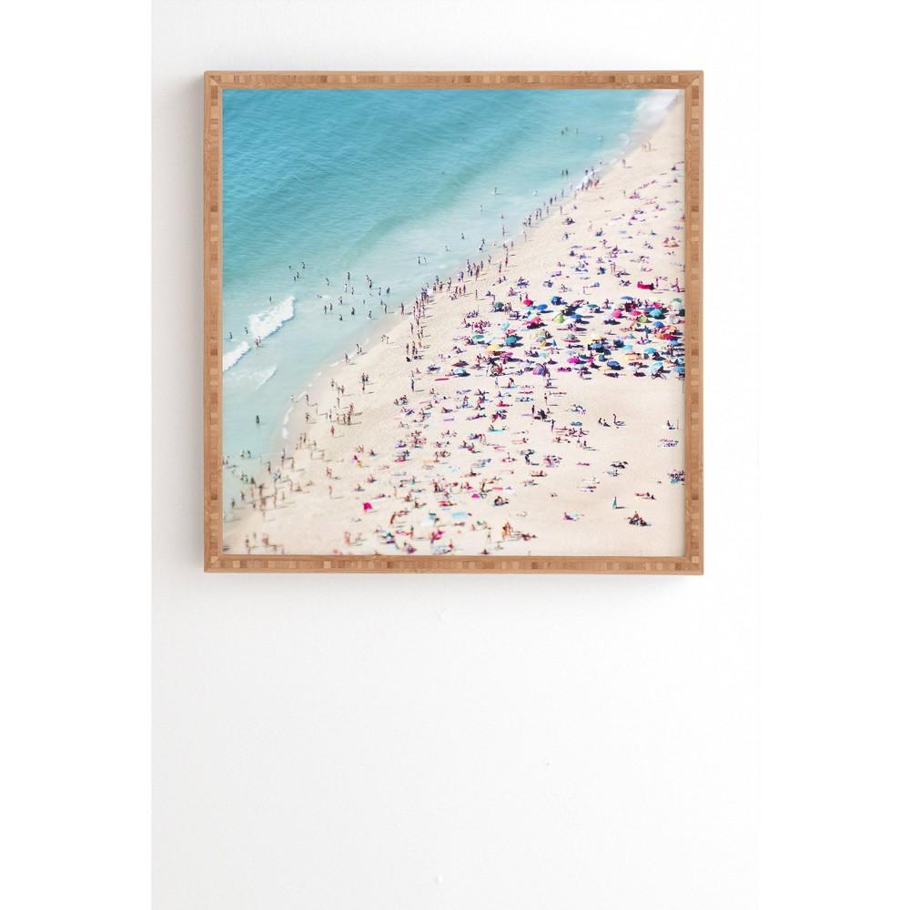 "Image of ""12"""" x 12"""" Ingrid Beddoes Beach Summer Landscape Framed Wall Art Blue - Deny Designs, Size: 12"""" x 12"""""""