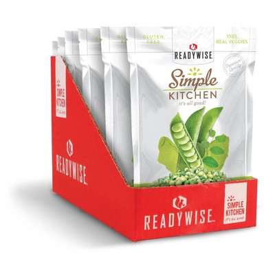 ReadyWise Simple Kitchen Wasabi Peas Freeze-Dried Vegetables - 9.6oz/6ct
