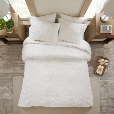 Ceiba King/California King 3pc Tufted Cotton Chenille Comforter Set White
