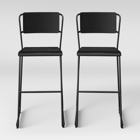 Set of 2 Killiam Mixed Material Sled Barstool - Project 62™ - image 1 of 5