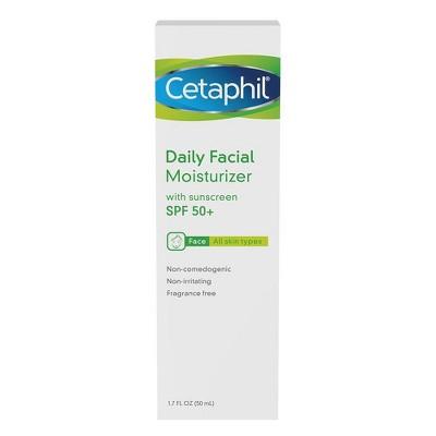 Facial Moisturizer: Cetaphil Daily Facial Moisturizer with SPF 50
