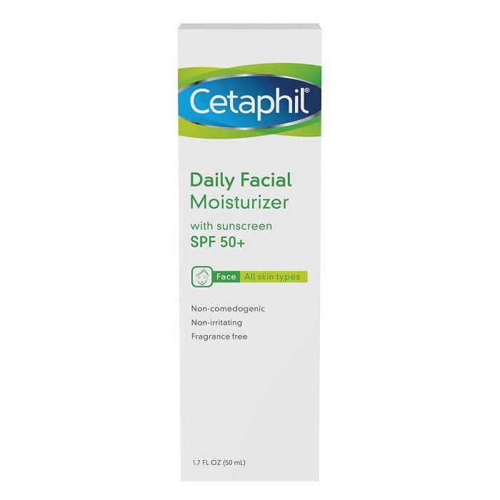 Cetaphil Facial Moisturizer - SPF 50+ - 1.7 Fl Oz : Target