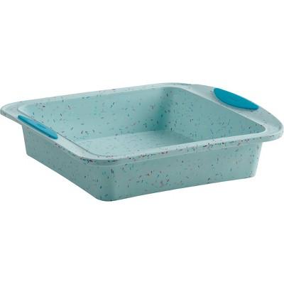"""Trudeau Square Cake Pan Confetti Blue 8"""" x 8"""""""