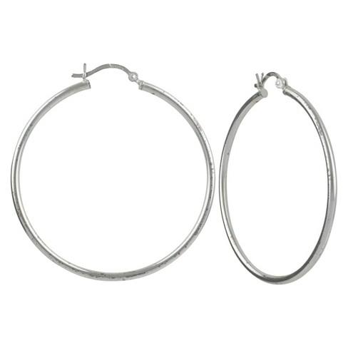 Sterling Silver Hoop Earring - Silver - image 1 of 1