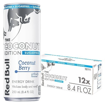 Red Bull Coconut Edition Sugarfree Energy Drink - 12pk/8.4 fl oz Cans
