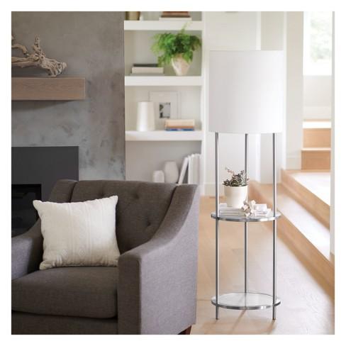 Glass Shelf Floor Lamp Silver Threshold Target