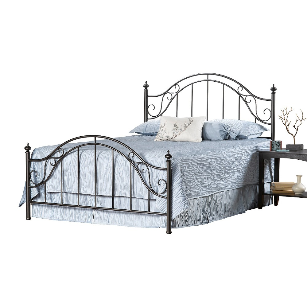 Clayton Bed with Rails - Matte Brown (King) - Hillsdale Furniture, Black