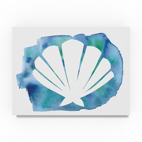 "Summer Tali Hilty Watercolor Sea Shell Unframed Wall 24""x32"" - Trademark Fine Art - image 1 of 3"