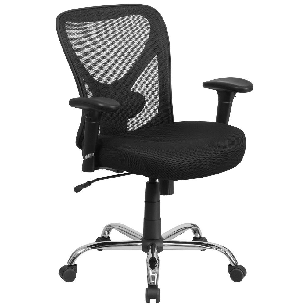 Hercules Series 400 lb. Capacity Big & Tall Swivel Task Chair Black Mesh - Flash Furniture
