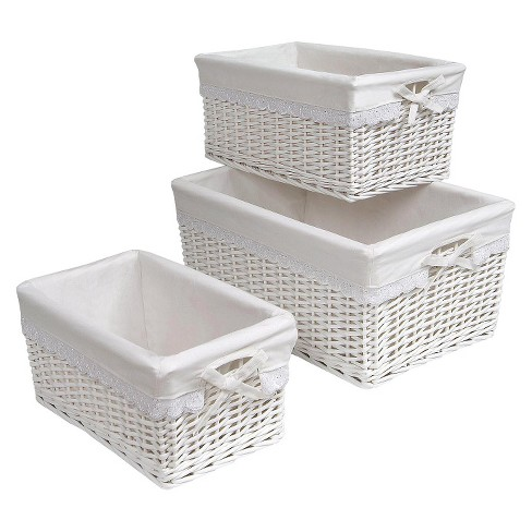 Badger Decorative Basket with White Liners Set of 3 - image 1 of 1