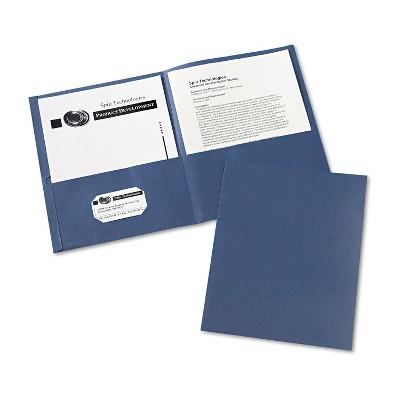 Avery Two-Pocket Folder 40-Sheet Capacity Dark Blue 25/Box 47985