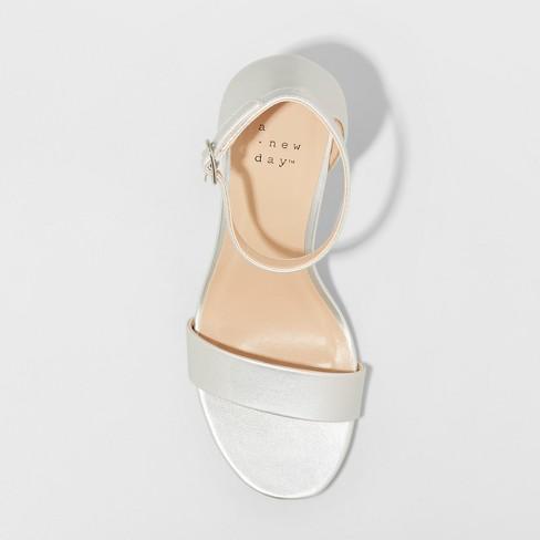 a016a56bf48d Women s Ema Wide Width High Block Heel Pumps - A New Day™ Silver 6.5 ...