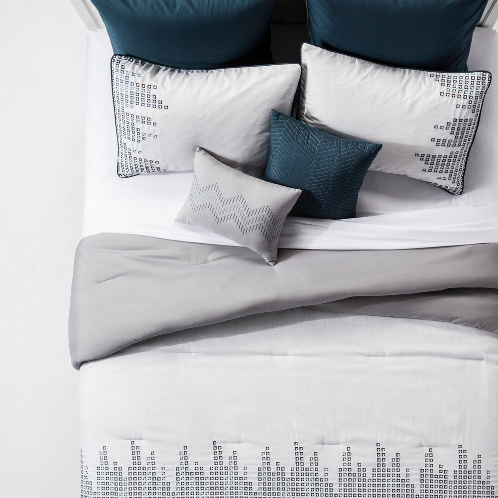 Image of 8pc Full Laynee Comforter Set Teal, Blue