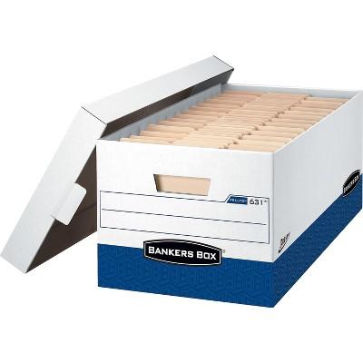 Bankers Box Presto Corrugated Boxes Letter Size White/Blue 736547