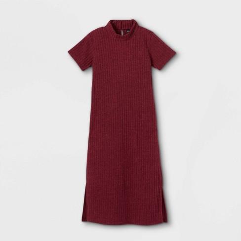Girls' Mock Neck Midi Dress - art class™ - image 1 of 2