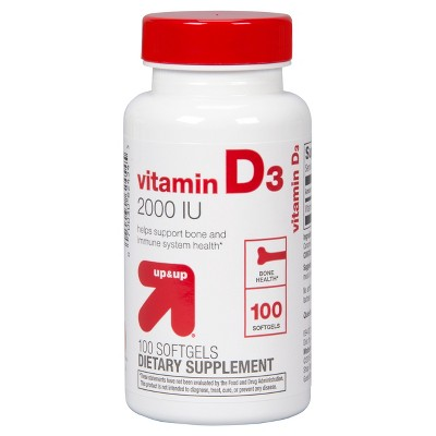 Vitamin D3 Dietary Supplement Softgels - up & up™