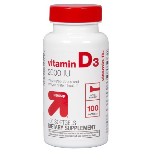 Vitamin D3 Dietary Supplement Softgels - Up&Up™ - image 1 of 2