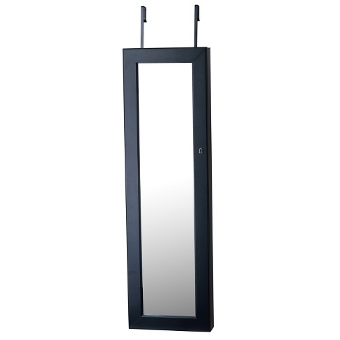 Deluxe Mirrored Jewelry Armoire Black - FirsTime - image 1 of 4