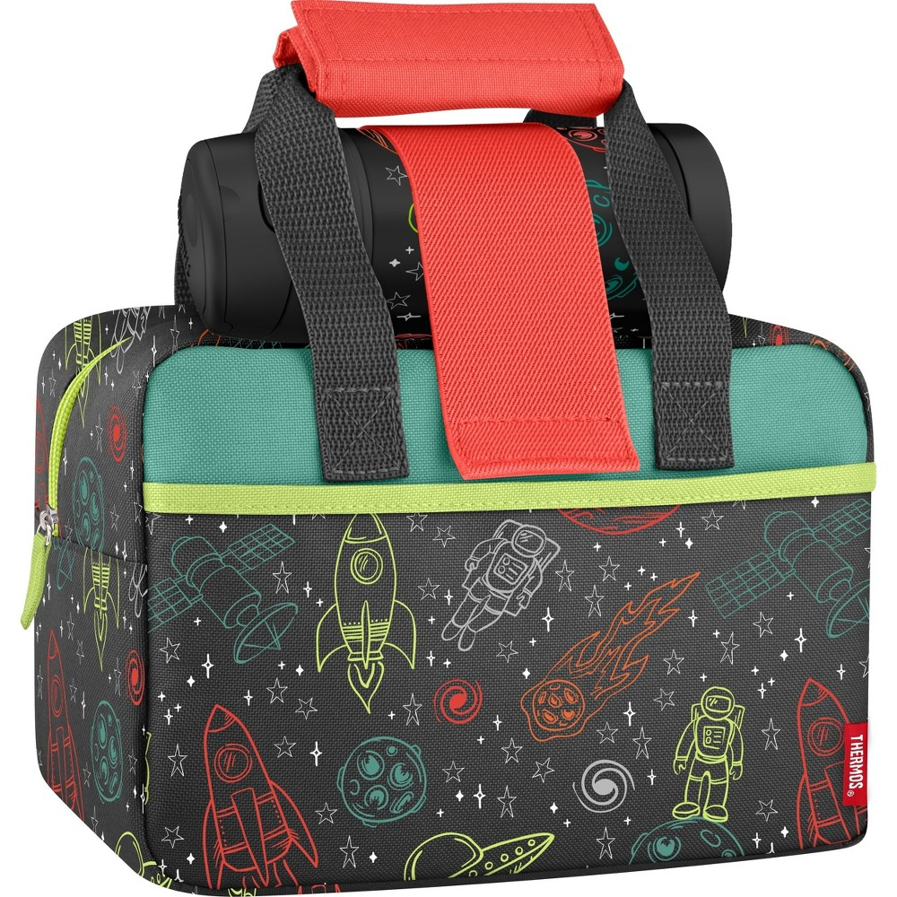 Image of Thermos Lunch Duffel with Water Bottle - Space, Black