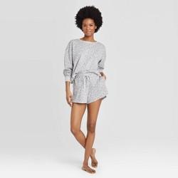 Women's Leopard Print Lounge Shorts - Colsie™ Gray