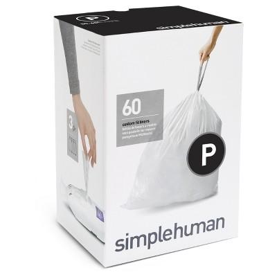 Trash Bags: Simplehuman code P
