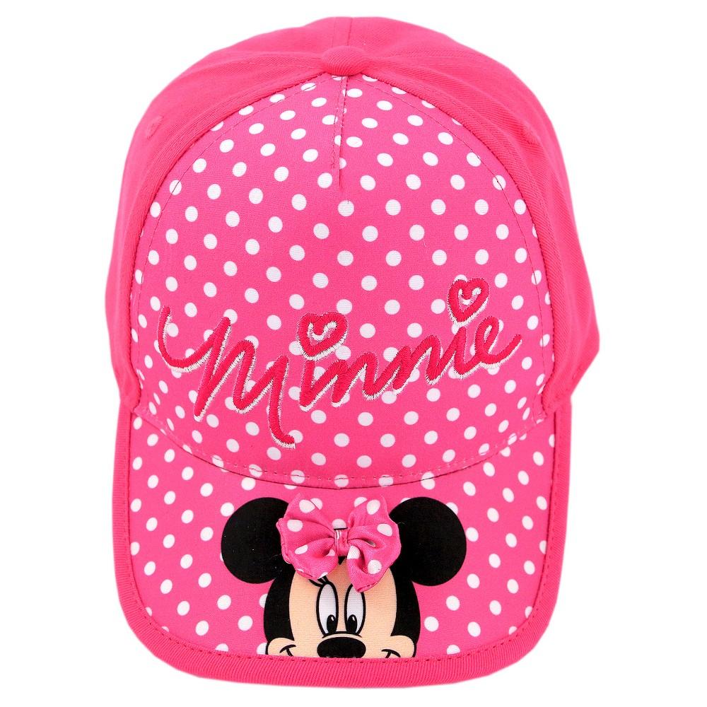 Girls' Minnie Mouse Polka Dot Baseball Hat - Pink