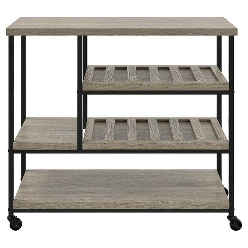Arborview Multi Purpose Rolling Cart Sonoma Oak - Room & Joy - image 1 of 5
