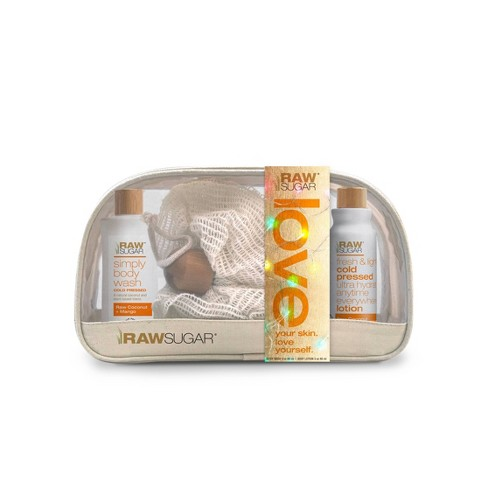 Raw Sugar Raw Coconut + Mango Travel Gift Set - 3ct - image 1 of 4