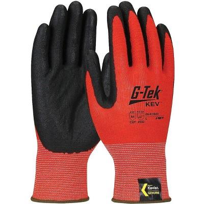 G-Tek KEV Gloves Kevlar Engineered Yarn Red 13 Gauge 09-K1640/XXL