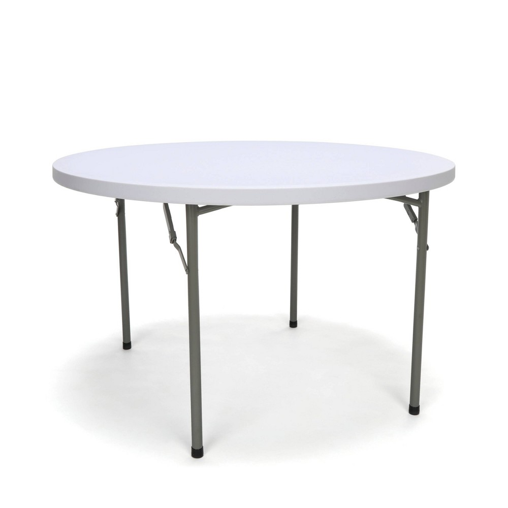 "Image of ""48"""" Round Folding Utility Table White - OFM"""
