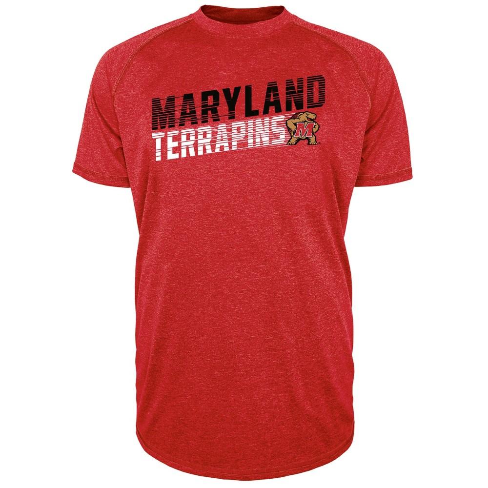 Maryland Terrapins Men's Short Sleeve Raglan Performance T-Shirt - S, Multicolored