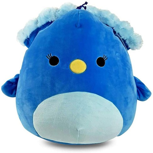 Kellytoy Squishmallow 12 Inch Pillow Plush Priscilla The Blue Peacock Target