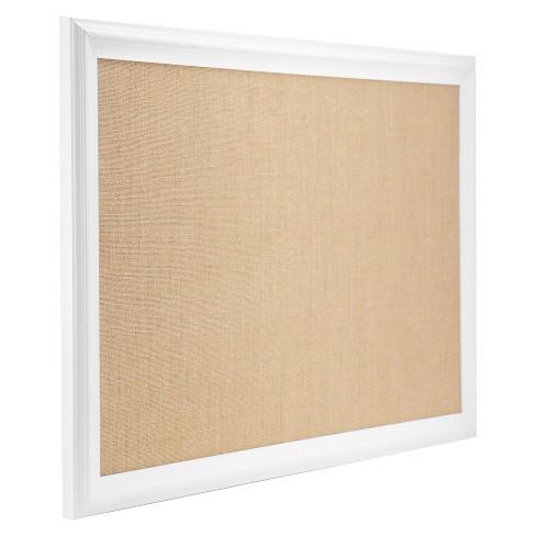 Ubrands White Wood Frame Burlap Bulletin Board 20 X 30 Target