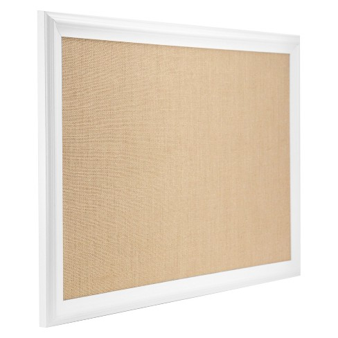 Ubrands White Wood Frame Burlap Bulletin Board 20 X 30 Target