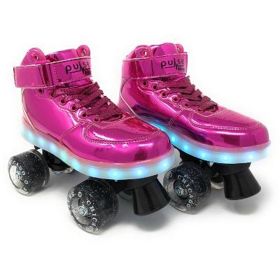 Chicago Skates Pulse Light-Up Quad Roller Skate - Pink