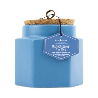 9oz Hexagon Ceramic Jar Candle Sea Salt Coconut - Chesapeake Bay Candle
